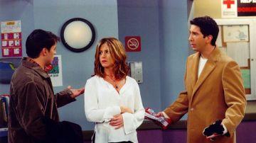 Joey, Rachel y Ross en 'Friends'