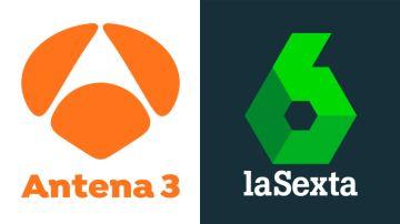 Logo de Antena 3 y la Sexta