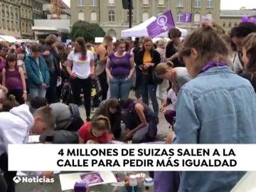 En Suiza las mujeres van a huelga porque en su país no hay igualdad