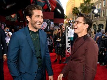 Jake Gyllenhaal junto a Tom Holland