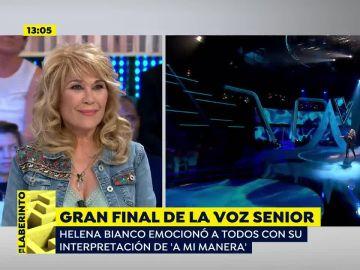 """Helena Bianco tras ganar 'La Voz Senior': """"He vuelto a los 17 años"""""""
