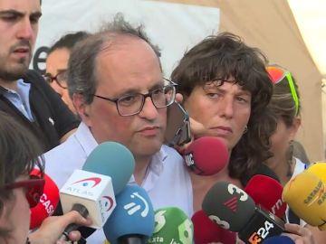 Los líderes políticos, preocupados por el incendio que asola Tarragona