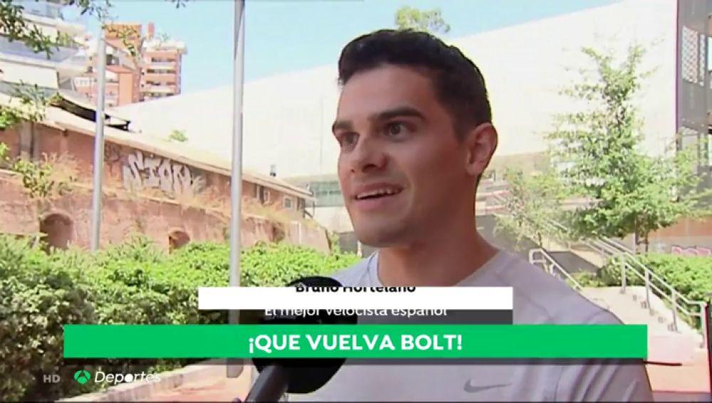 """¿Vuelve Usain Bolt? Bruno Hortelano lo tiene claro: """"Me encantaría que volviese"""""""