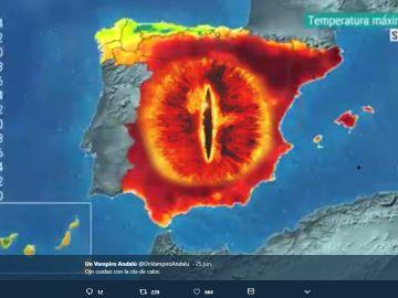 Meme de la ola de calor de @unvampiroandalu