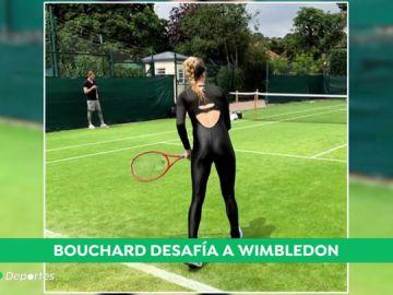 El 'mono' ilegal con el que Genie Bouchard no podrá jugar en Wimbledon