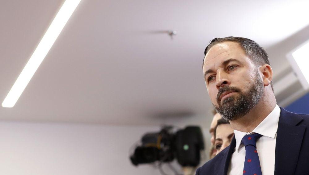 El líder de Vox, Santiago Abascal