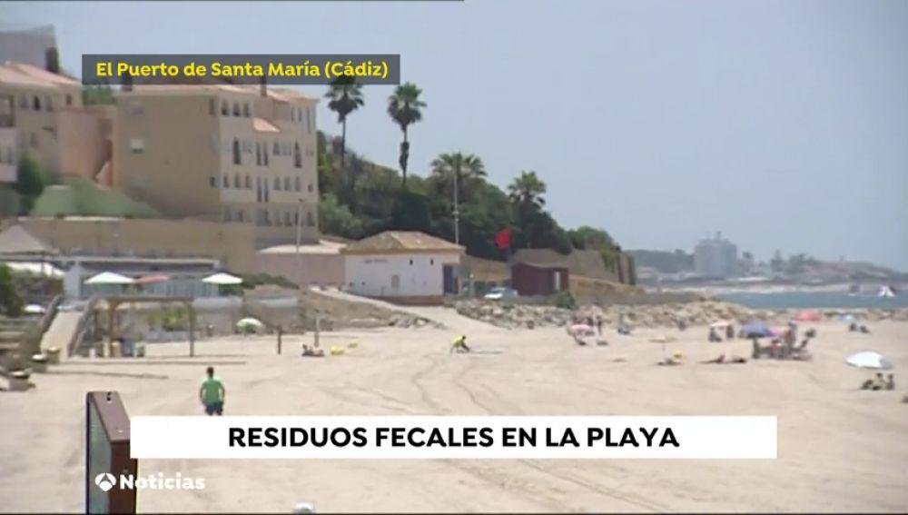 Cerrada al baño la playa de Fuentebravía en El Puerto