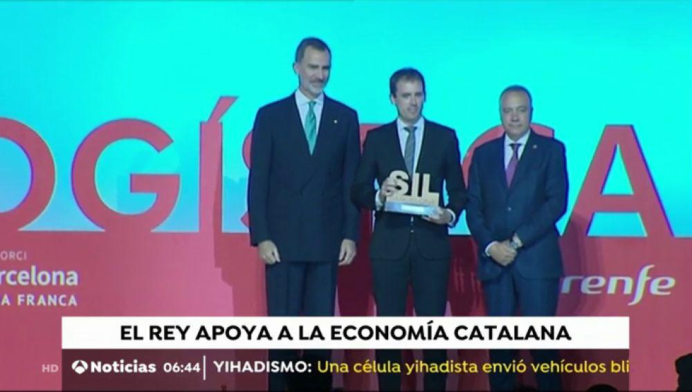 Felipe VI preside la Noche de la Logística en Barcelona