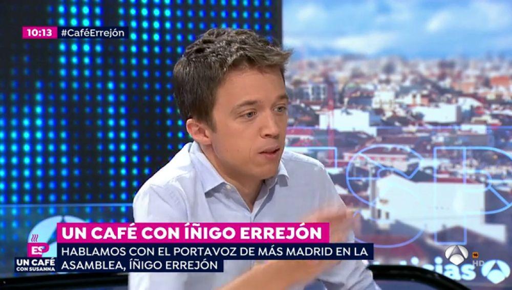 """Íñigo Errejón: """"Ciudadanos quiere pactar con Vox en Madrid pero de noche y sin que se vea"""""""