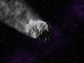 Asteroide en el espacio