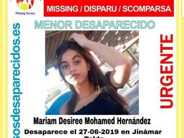 Buscan a una niña de 14 años desaparecida