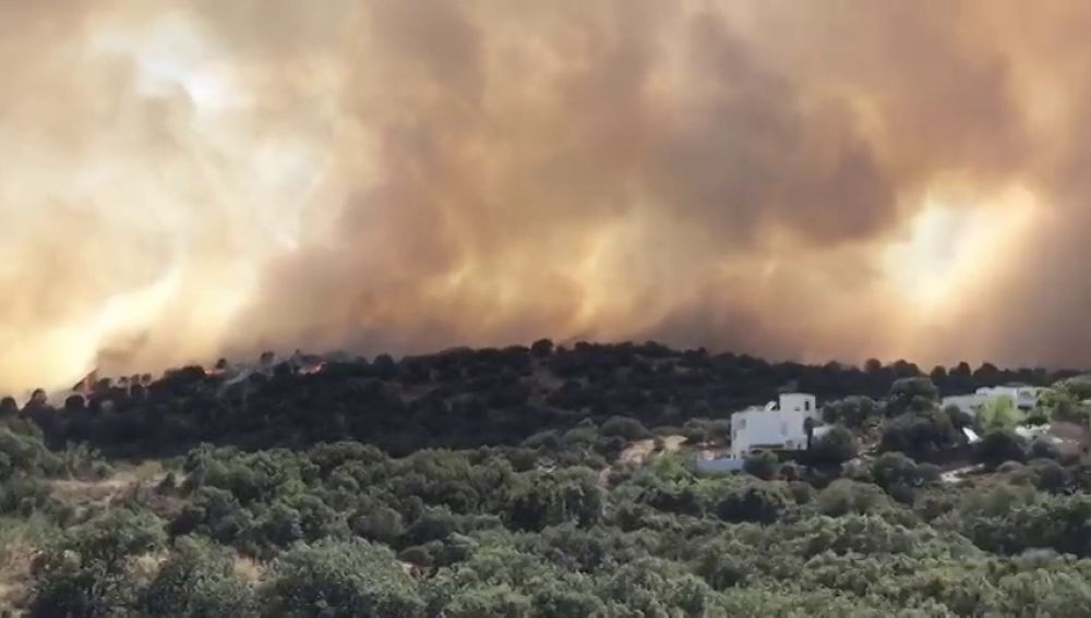 Declarado un incendio en las proximidades de Toledo