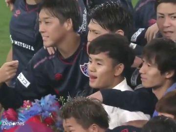 Despedida de crack del Tokyo FC para Takefusa Kubo antes de poner rumbo al Real Madrid