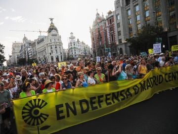 Manifestación en defensa de Madrid Central