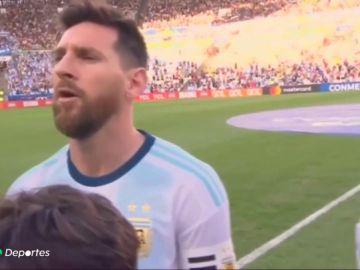 Sorpresa en Argentina: Messi por fin cantó el himno de su país... ¡y a pleno pulmón!
