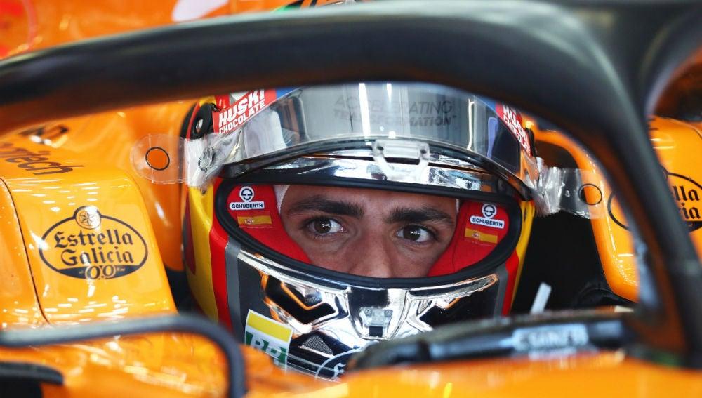 Carlos Sainz, en su McLaren