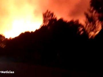 El fuego no da tregua y las llamas continúan sin control en Toledo y sur de Madrid