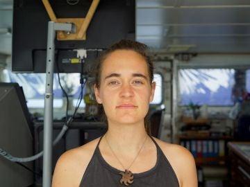 La capitana del barco de la ONG alemana Sea Watch, Carola Rackete