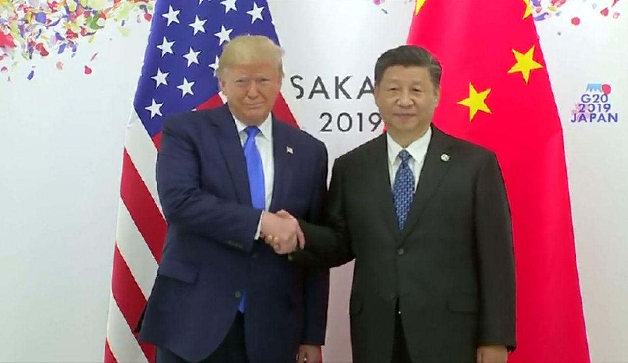Trump y Xi Jinping durante el G-20
