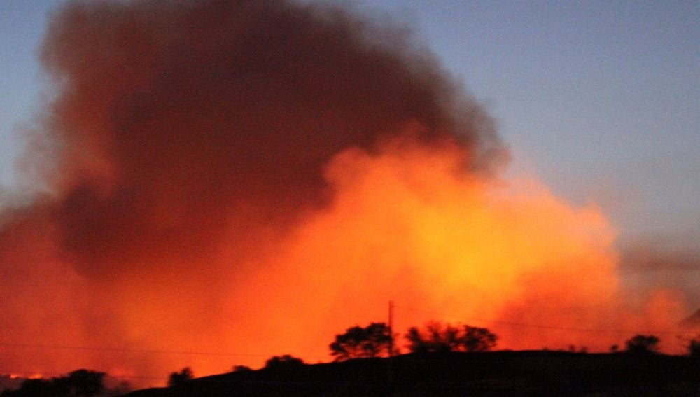 Incendio en Almorox (Toledo)
