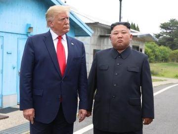 Donald Trump y Kim Jong-un en Corea del Norte