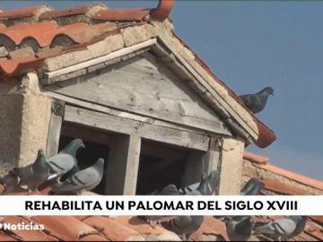 Un anciano de Valladolid dona a su pueblo un palomar de 300 años que restauró con sus propias manos