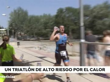 La ola de calor se dejó sentir en el triatlón de Tudela: hasta el gobierno de Navarra recomendó no participar