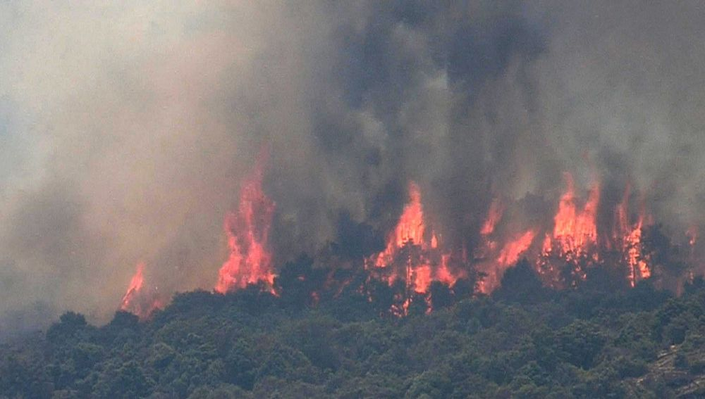 Incendio en la Comunidad de Madrid