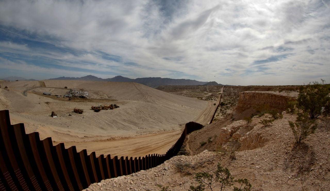 Imagen del muro fronterizo de EEUU (Archivo)