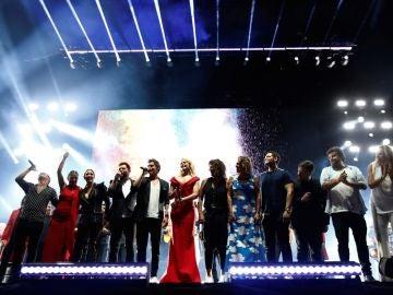 Varios artistas en el Concierto por la Paz