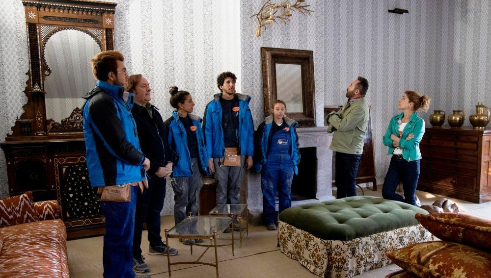 El antes y el después de la casa de invitados de Lorenzo Castillo: el jurado aplaude el salón y el mirador rústico