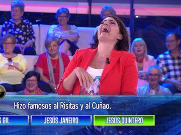 La divertida imitación del 'Risitas' de Silvia Abril en '¡Ahora caigo!'