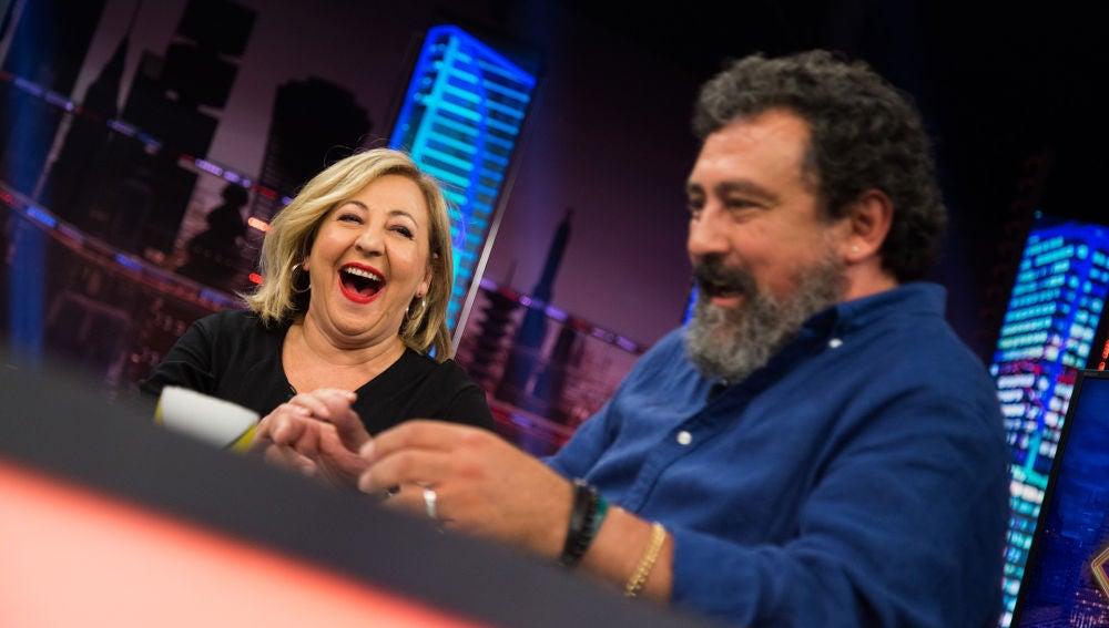 Los divertidos piropos entre Carmen Machi y Paco Tous en 'El Hormiguero 3.0'