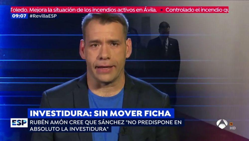 """Rubén Amón: """"Pedro Sánchez está buscando una investidura a domicilio"""""""