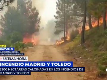 Incendio en Madrid y Toledo.