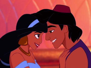 Jasmine y Aladdin, personajes de Disney