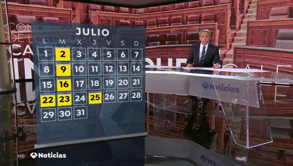 La investidura de Sánchez deberá votarse el martes para asegurar que la repetición de elecciones sea en domingo