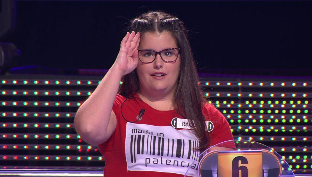La bonita presentación en lengua de signos de Raquel en '¡Ahora caigo!'