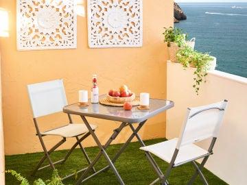 Contar con una terraza, aunque sea mini es todo un privilegio
