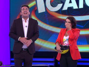 Así ha sido el estreno de Silvia Abril como presentadora de '¡Ahora caigo!'