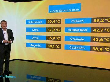 Temperaturas de récord en la península ibérica