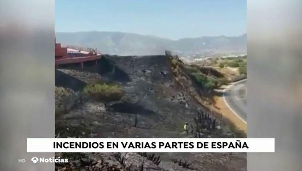 El resto de incendios en España se encuentran controlado por los bomberos