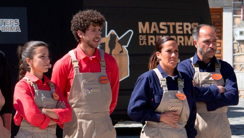La quiniela entre las parejas sobre quién ganará 'Masters de la reforma' vuelve a enfrentar a Iratxe con Antonio y Elisa