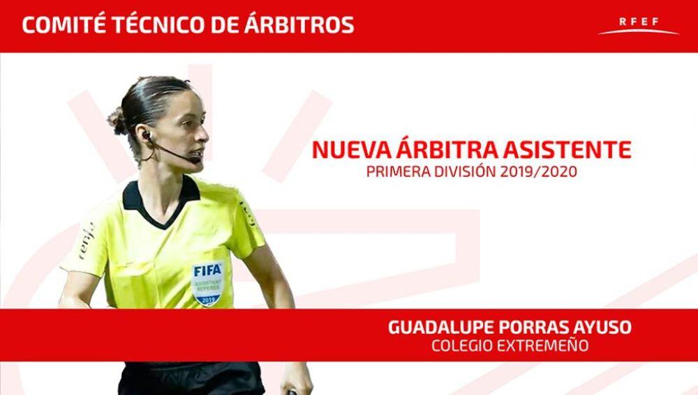 Guadalupe Porras, primera árbitra en la historia de Primera División