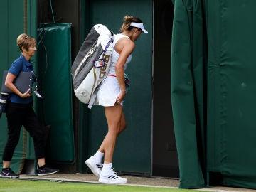 Muguruza dice adiós a Wimbledon en primera ronda