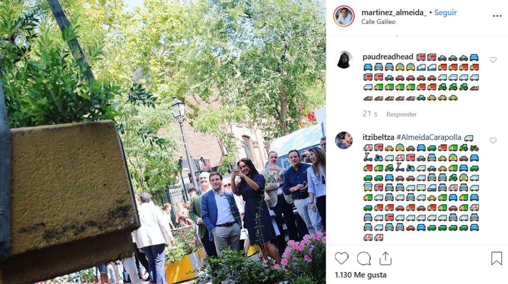 Comentarios en el Instagram de Martínez-Almeida