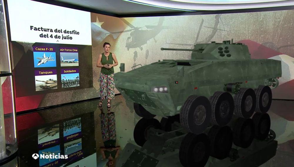 Trump anuncia que sacará tanques a las calles para celebrar el cuatro de julio