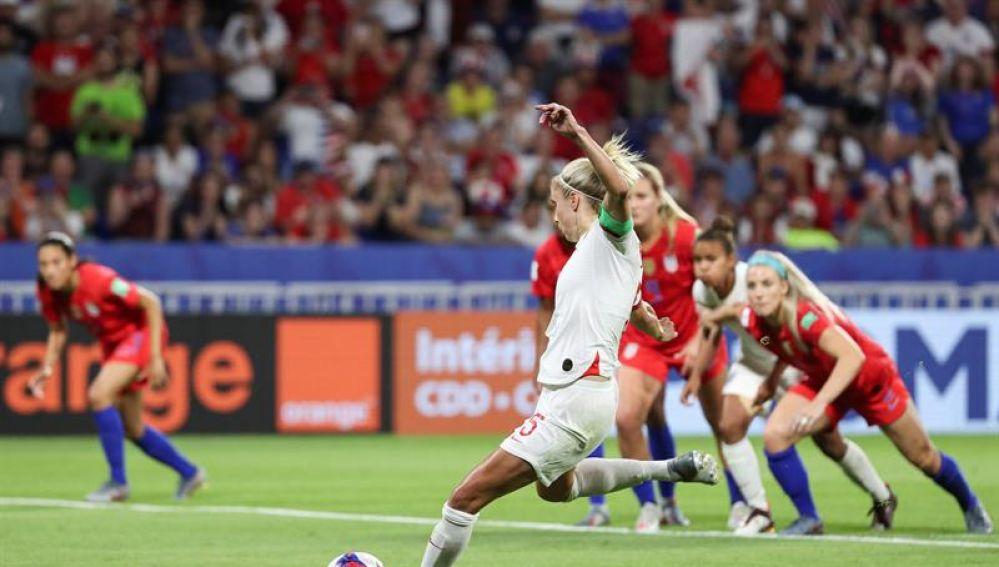 La jugadora de Inglaterra, Steph Houghton
