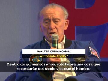 """El astronauta Cunningham recuerda su llegada a la luna: """"La gente no tendrá idea de lo difícil que fue"""""""