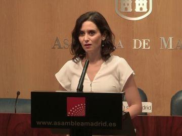 Díaz Ayuso a presenta su candidatura al pleno de investidura y pide un entendimiento entre Ciudadanos y Vox